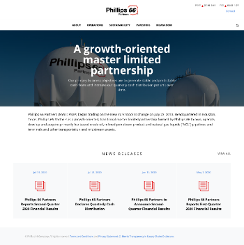 Phillips 66 Partners LP Website Screenshot