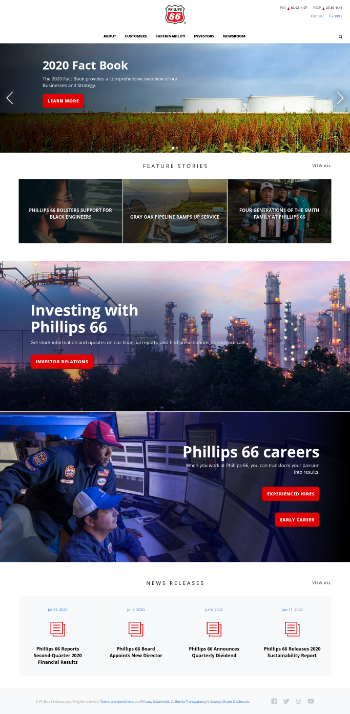 Phillips 66 Website Screenshot