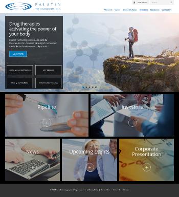 Palatin Technologies, Inc. Website Screenshot