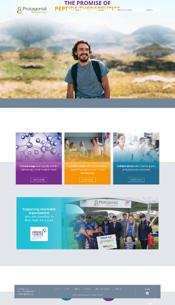 Protagonist Therapeutics, Inc. Website Screenshot