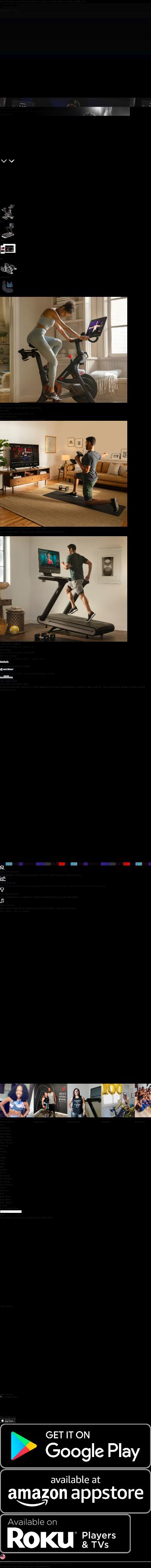 Peloton Interactive, Inc. Website Screenshot