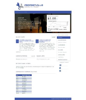 Permianville Royalty Trust Website Screenshot