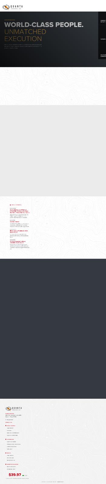 Quanta Services, Inc. Website Screenshot