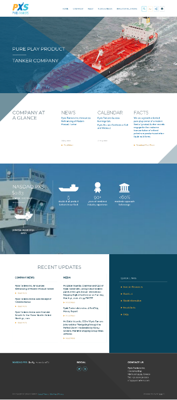 Pyxis Tankers Inc. Website Screenshot