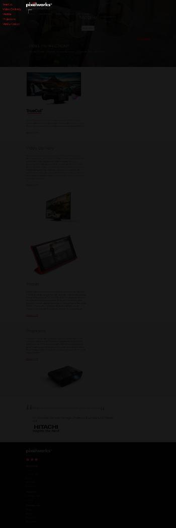 Pixelworks, Inc. Website Screenshot