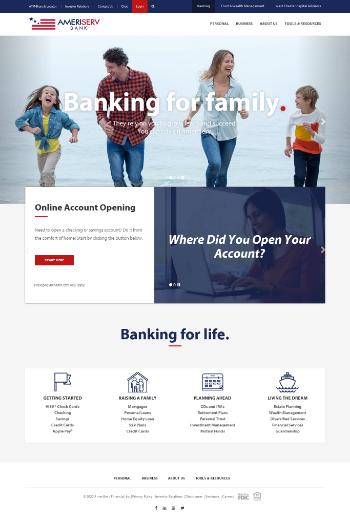 AmeriServ Financial, Inc. Website Screenshot