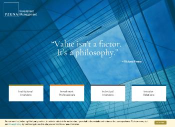 Pzena Investment Management, Inc Website Screenshot