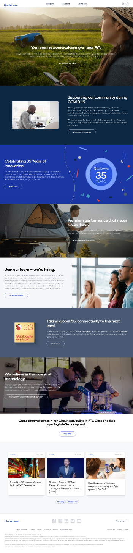 QUALCOMM Incorporated Website Screenshot