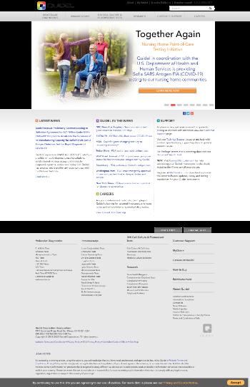 Quidel Corporation Website Screenshot
