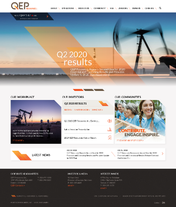 QEP Resources, Inc. Website Screenshot