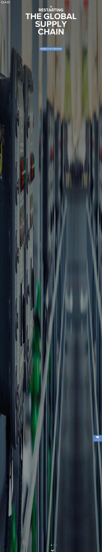 QAD Inc. Website Screenshot