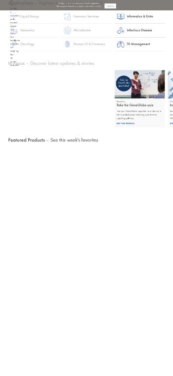 QIAGEN N.V. Website Screenshot