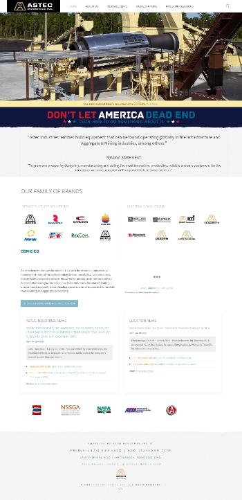 Astec Industries, Inc. Website Screenshot