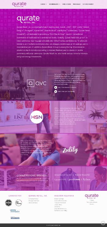 Qurate Retail, Inc. Website Screenshot