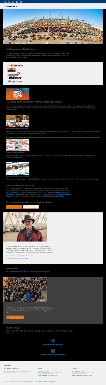 Ritchie Bros. Auctioneers Incorporated Website Screenshot