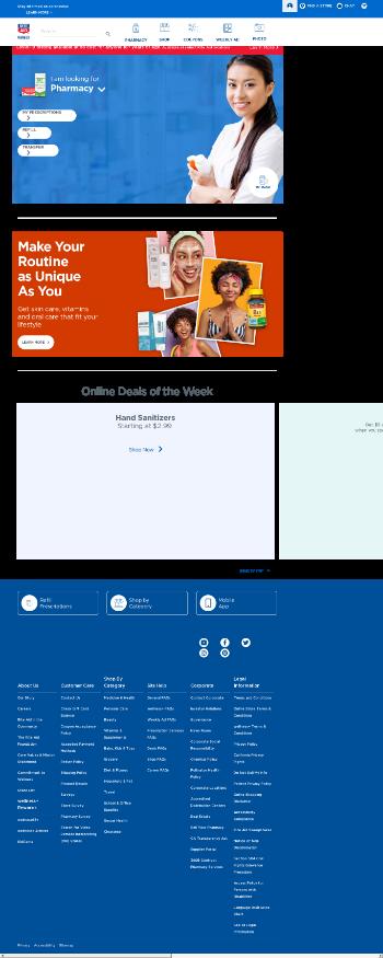 Rite Aid Corporation Website Screenshot