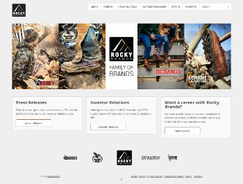 Rocky Brands, Inc. Website Screenshot