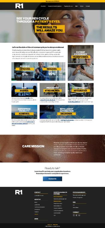 R1 RCM Inc. Website Screenshot