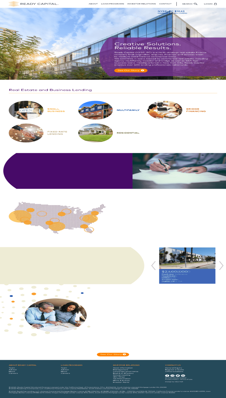 Ready Capital Corporation Website Screenshot