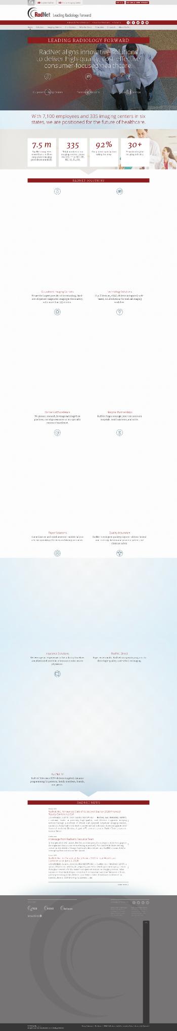 RadNet, Inc. Website Screenshot
