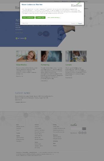 Radius Health, Inc. Website Screenshot