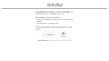 The RealReal, Inc. Website Screenshot