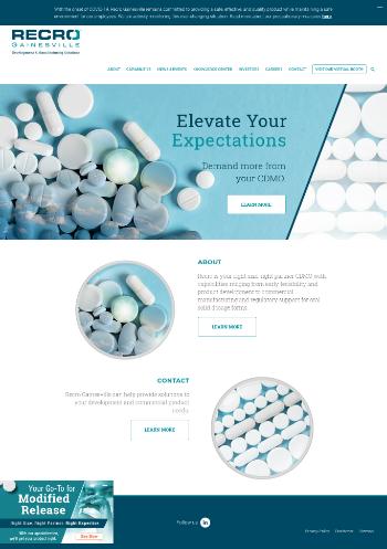 Recro Pharma, Inc. Website Screenshot