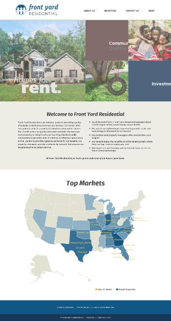 Front Yard Residential Corporation Website Screenshot