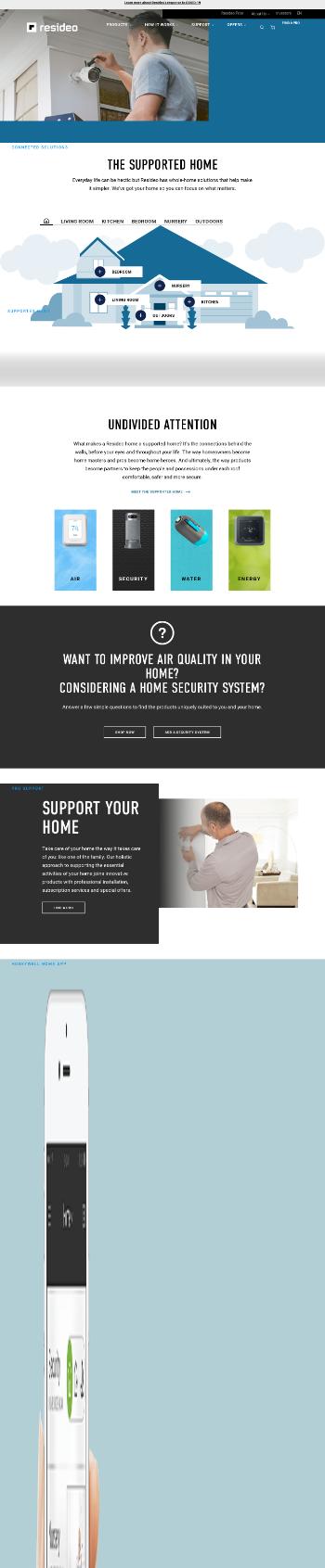 Resideo Technologies, Inc. Website Screenshot