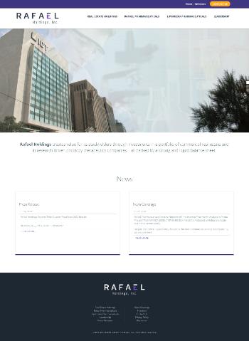 Rafael Holdings, Inc. Website Screenshot
