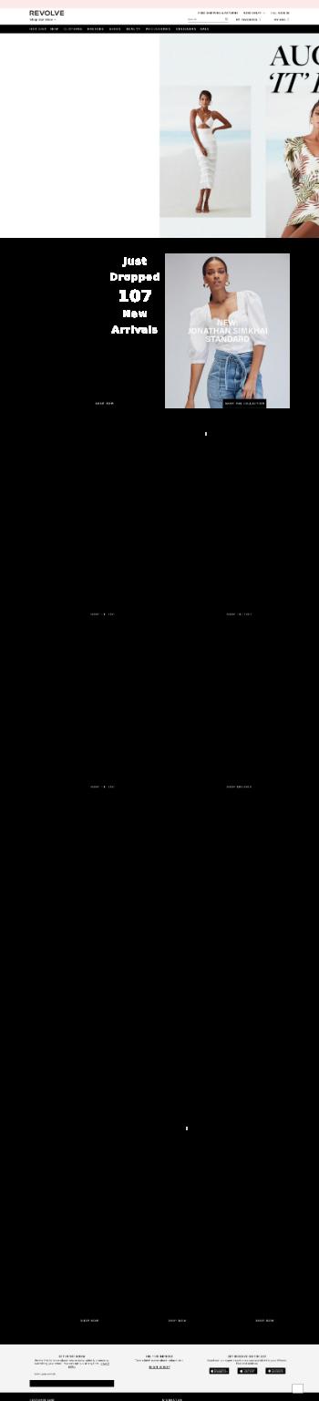 Revolve Group, Inc. Website Screenshot