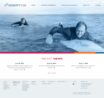 Assertio Holdings, Inc. Website Screenshot