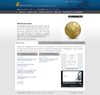 Royal Gold, Inc. Website Screenshot