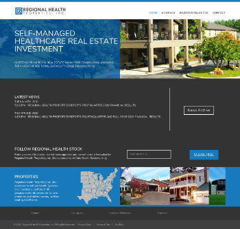 Regional Health Properties, Inc. Website Screenshot