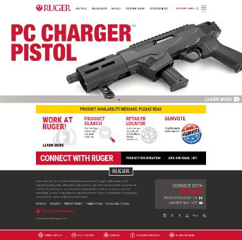 Sturm, Ruger & Company, Inc. Website Screenshot