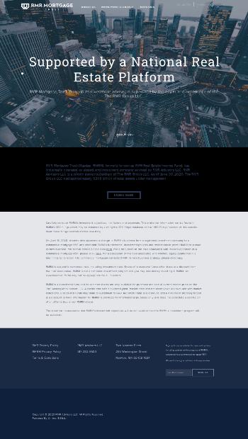 RMR Real Estate Income Fund Website Screenshot