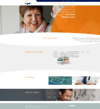 Rigel Pharmaceuticals, Inc. Website Screenshot