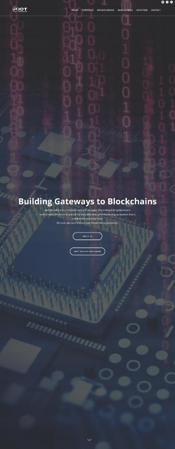 Riot Blockchain, Inc. Website Screenshot