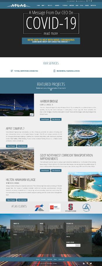 Atlas Technical Consultants, Inc. Website Screenshot