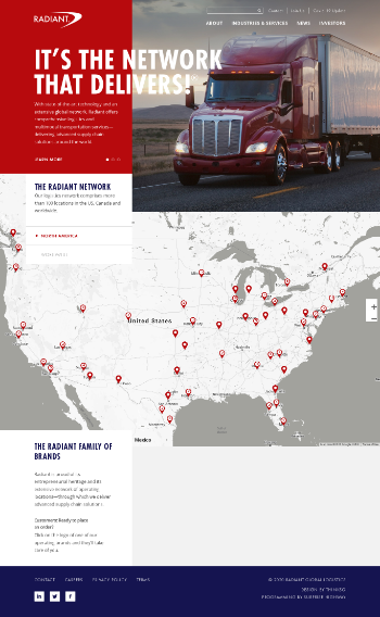 Radiant Logistics, Inc. Website Screenshot