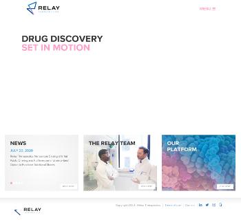 Relay Therapeutics, Inc. Website Screenshot