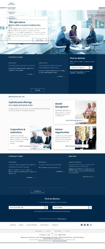 Raymond James Financial, Inc. Website Screenshot
