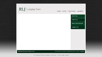 RLJ Lodging Trust Website Screenshot