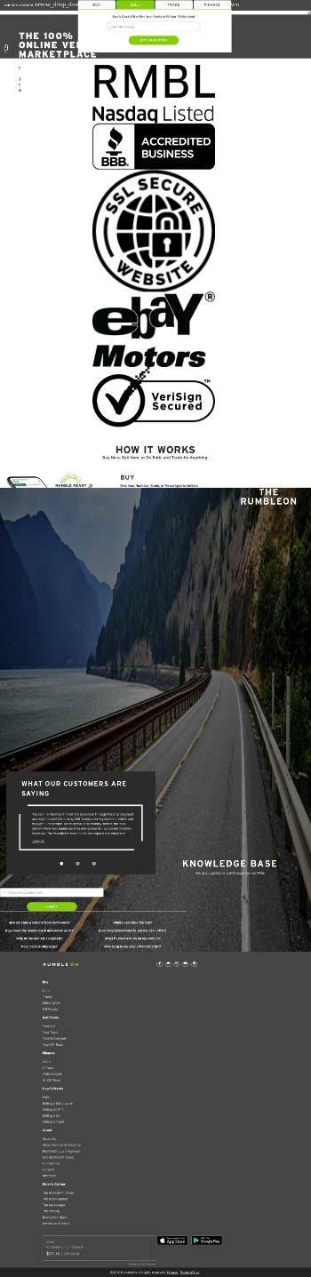 RumbleON, Inc. Website Screenshot