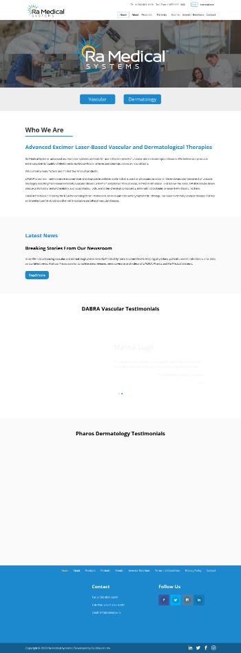 Ra Medical Systems, Inc. Website Screenshot