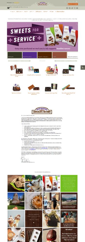 Rocky Mountain Chocolate Factory, Inc. Website Screenshot