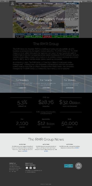 The RMR Group Inc. Website Screenshot
