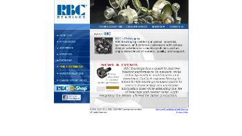 RBC Bearings Incorporated Website Screenshot