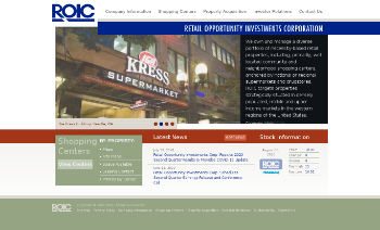 Retail Opportunity Investments Corp. Website Screenshot