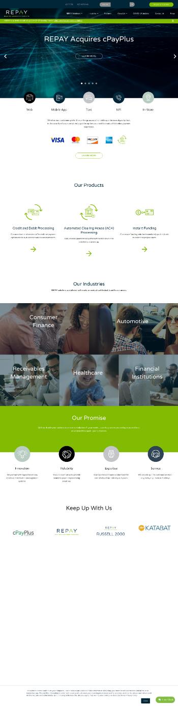 Repay Holdings Corporation Website Screenshot